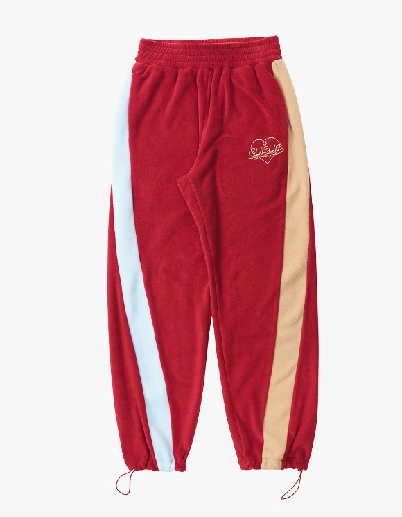 eyeye Color Combination Fleece Pant - Red | HEIGHTS. | 하이츠 온라인 스토어