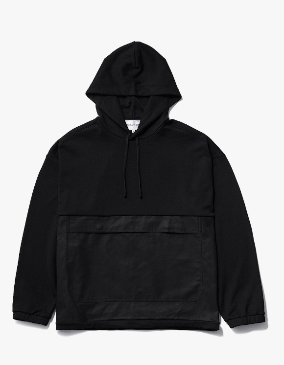 AECA WHITE Black Patch Oversize Hoodie - Black | HEIGHTS. | 하이츠 온라인 스토어