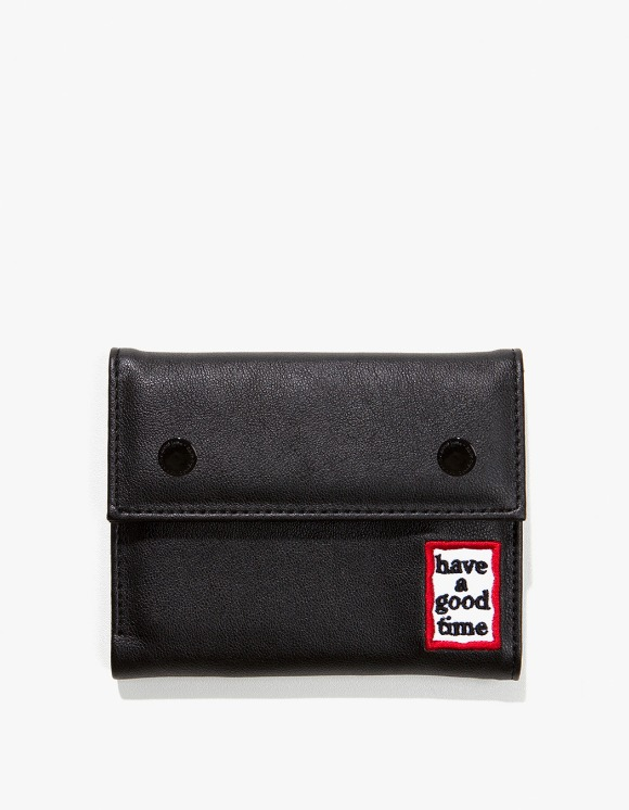 have a good time Frame Faux Leather Wallet - Black | HEIGHTS. | 하이츠 온라인 스토어