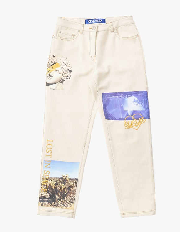 eyeye Digital Printed Denim Pants - Ivory | HEIGHTS. | 하이츠 온라인 스토어