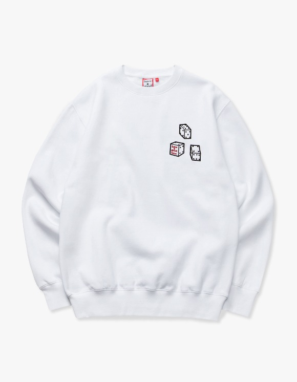 have a good time Dice Crewneck - White | HEIGHTS. | 하이츠 온라인 스토어