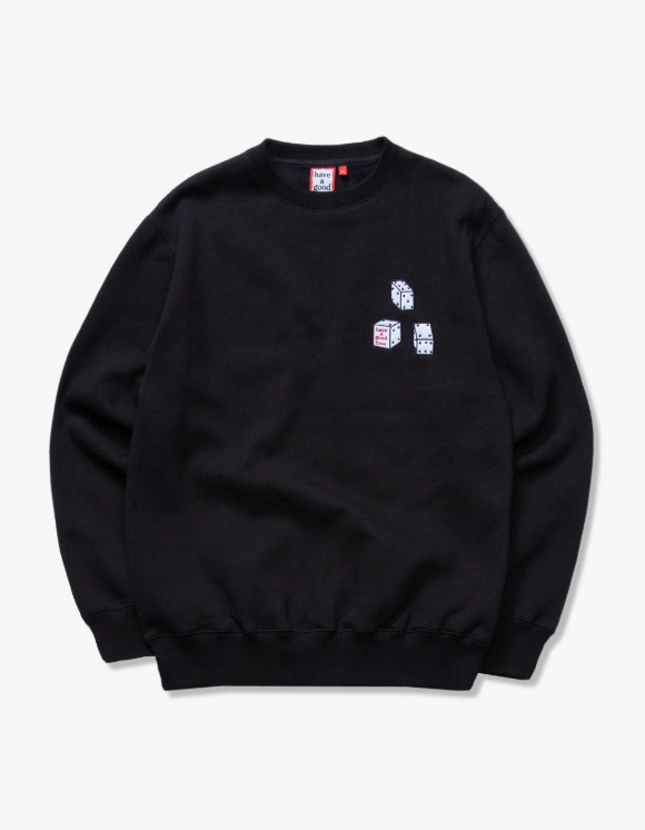 have a good time Dice Crewneck - Black | HEIGHTS. | 하이츠 온라인 스토어