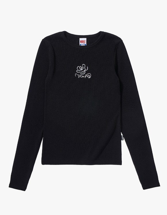 MISCHIEF Fitted Rose Long Sleeve - Black | HEIGHTS. | 하이츠 온라인 스토어