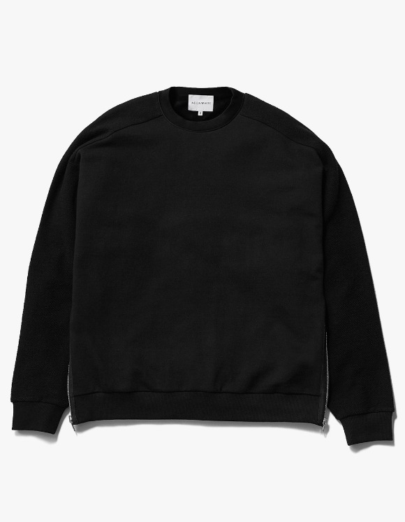 AECA WHITE Suite Double Zip Sweat - Black | HEIGHTS. | 하이츠 온라인 스토어