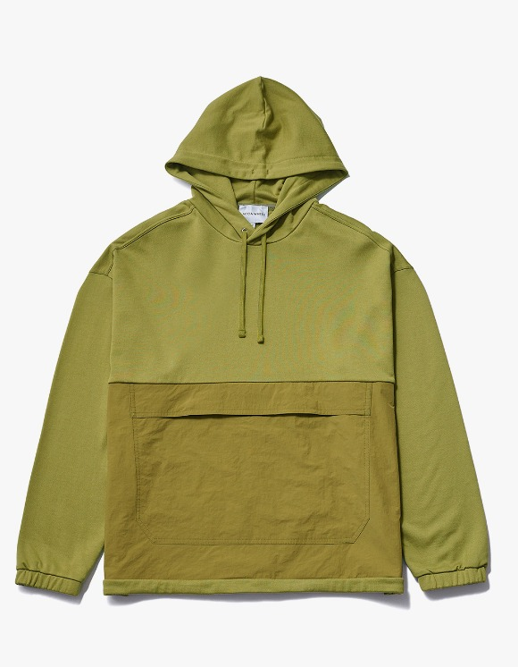 AECA WHITE Black Patch Oversize Hoodie - Olive | HEIGHTS. | 하이츠 온라인 스토어