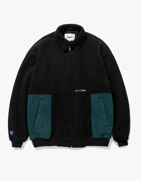 Fuzz FUZZ FLEECE HARRINGTON JACKET black | HEIGHTS. | 하이츠 온라인 스토어