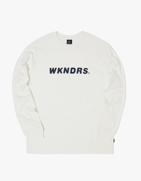 WKNDRS L/S Basic Logo Tee - White | HEIGHTS. | 하이츠 온라인 스토어