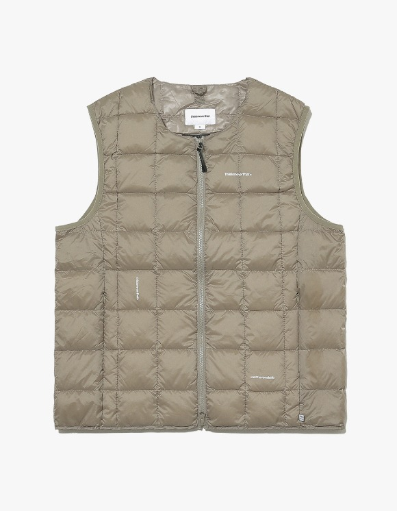 thisisneverthat TNT X TAION Crew Neck W-ZIP Down Vest - Khaki | HEIGHTS. | 하이츠 온라인 스토어