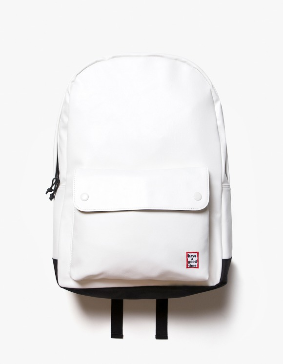 have a good time Frame Faux Leather Backpack - White | HEIGHTS. | 하이츠 온라인 스토어