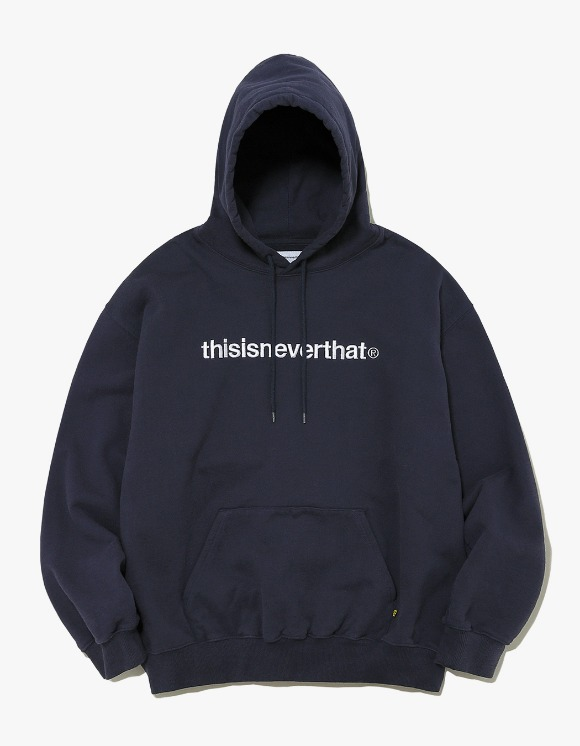thisisneverthat T-Logo Hooded Sweatshirt - Navy | HEIGHTS. | 하이츠 온라인 스토어