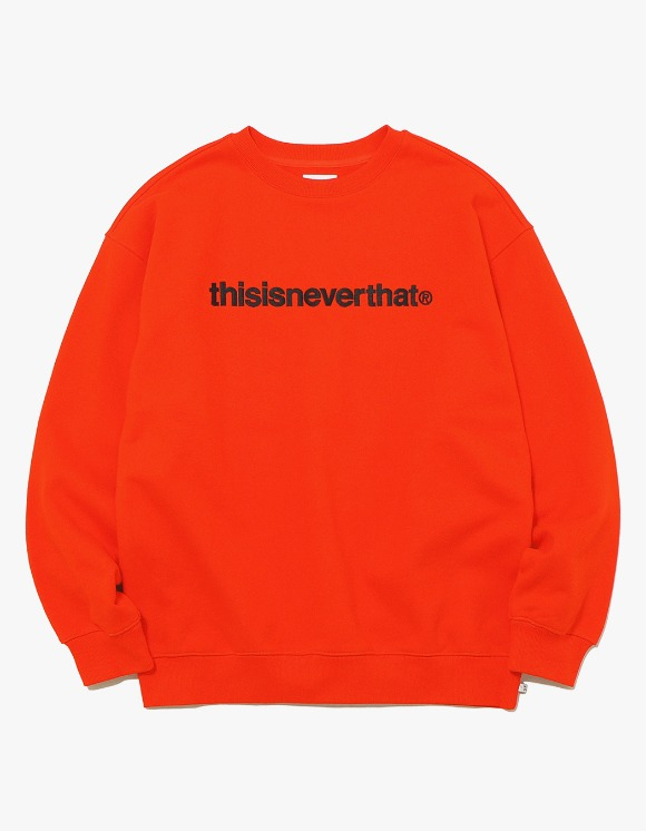 thisisneverthat T-Logo Crewneck - Orange | HEIGHTS. | 하이츠 온라인 스토어