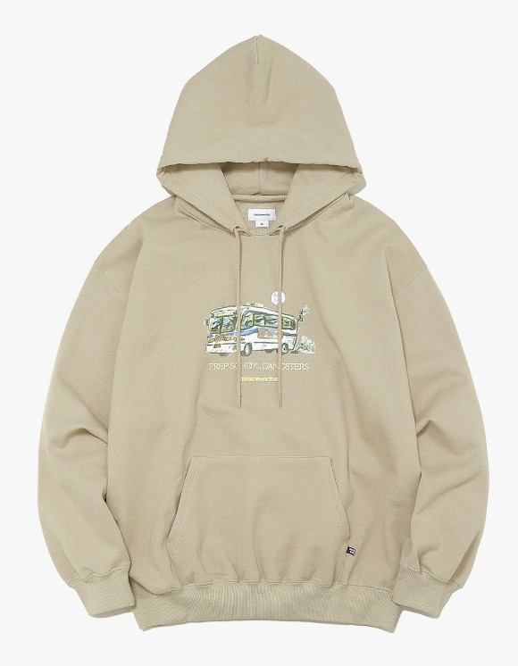 thisisneverthat WC Bus Hooded Sweatshirt - Beige | HEIGHTS. | 하이츠 온라인 스토어