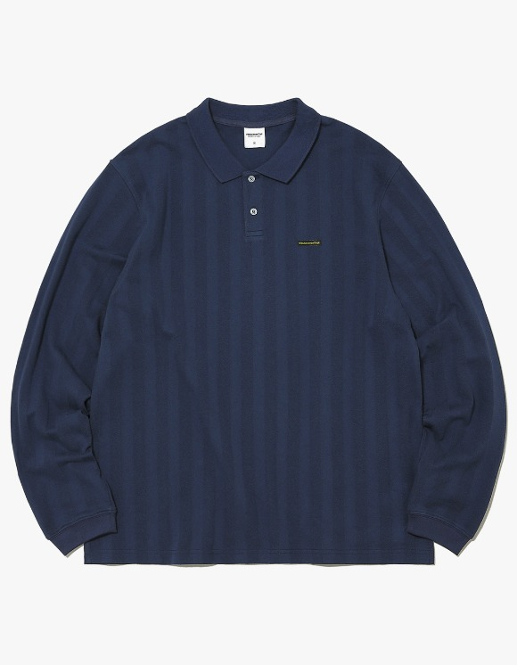 thisisneverthat Jacquard Jersey Polo - Navy | HEIGHTS. | 하이츠 온라인 스토어
