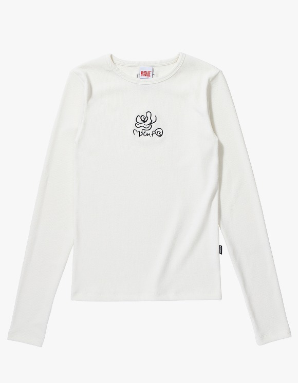 MISCHIEF Fitted Rose Long Sleeve - White | HEIGHTS. | 하이츠 온라인 스토어