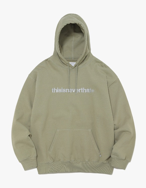 thisisneverthat T-Logo Hooded Sweatshirt - Light Olive | HEIGHTS. | 하이츠 온라인 스토어