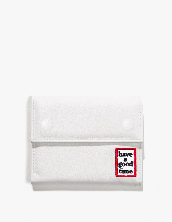 have a good time Frame Faux Leather Wallet - White | HEIGHTS. | 하이츠 온라인 스토어