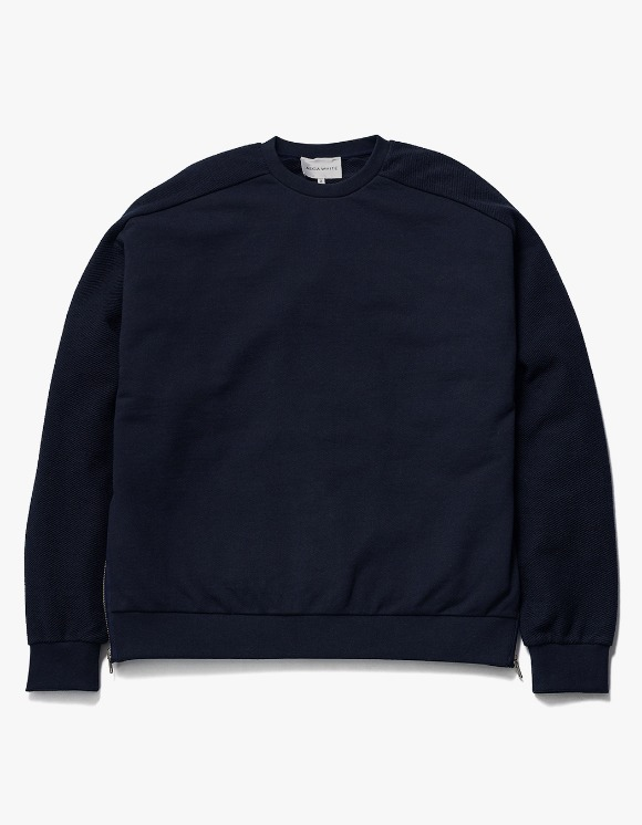 AECA WHITE Suite Double Zip Sweat - Deep Navy | HEIGHTS. | 하이츠 온라인 스토어