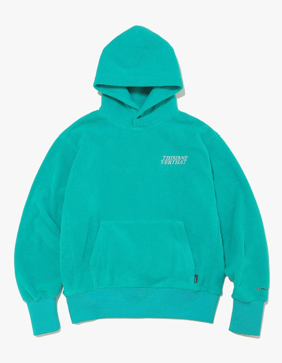 thisisneverthat POLARTEC Fleece Hoodie - Blue Green | HEIGHTS. | 하이츠 온라인 스토어