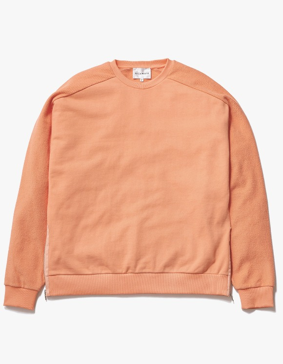 AECA WHITE Suite Double Zip Sweat - Peach Pink | HEIGHTS. | 하이츠 온라인 스토어