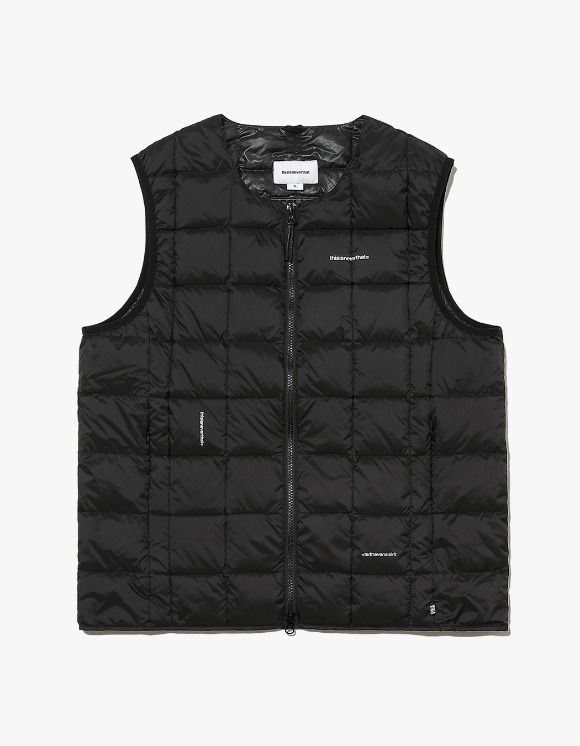 thisisneverthat TNT X TAION Crew Neck W-ZIP Down Vest - Black | HEIGHTS. | 하이츠 온라인 스토어
