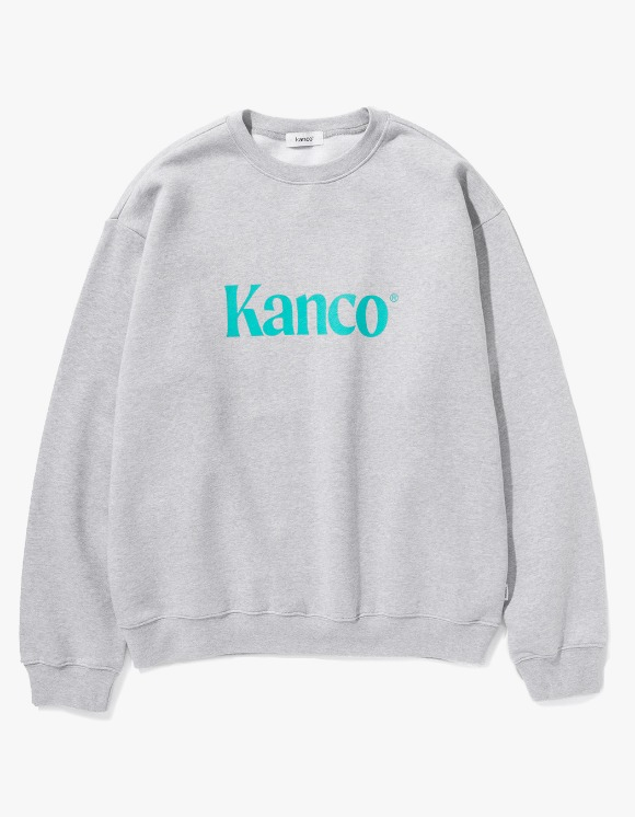 KANCO KANCO SERIF LOGO SWEATSHIRT melange gray | HEIGHTS. | 하이츠 온라인 스토어