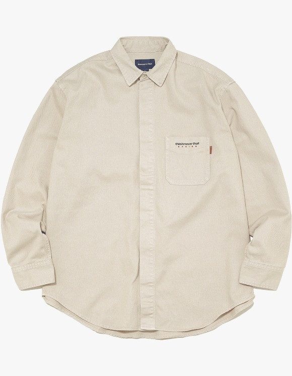 thisisneverthat Overdyed Twill Shirt - Beige | HEIGHTS. | 하이츠 온라인 스토어