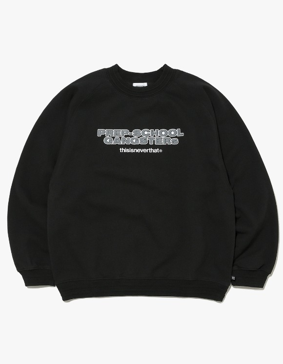 thisisneverthat Prep-School Gangsters Crewneck - Black | HEIGHTS. | 하이츠 온라인 스토어