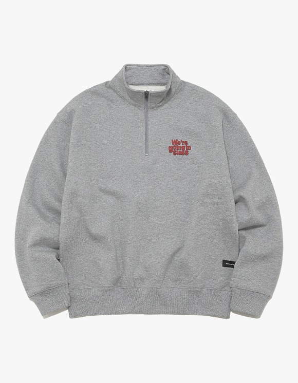 thisisneverthat GOING TO CLASS Half ZIP Pullover - Grey | HEIGHTS. | 하이츠 온라인 스토어