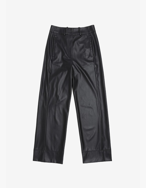 s/e/o Faux Leather Wide Pants - Black | HEIGHTS. | 하이츠 온라인 스토어