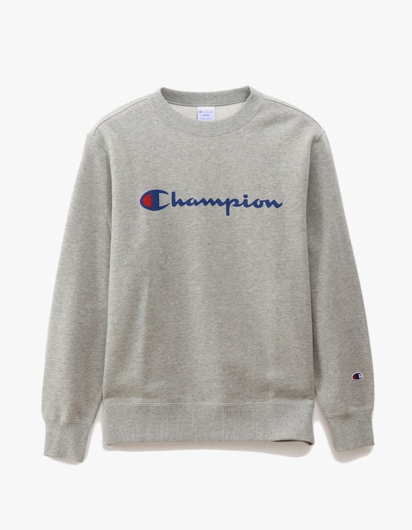Champion Logo Crewneck Sweatshirts - Heather Grey | HEIGHTS. | 하이츠 온라인 스토어