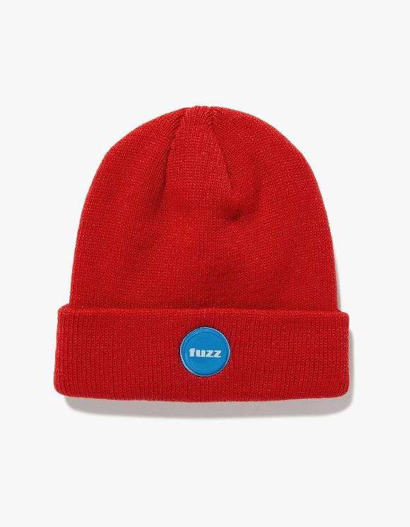 Fuzz FUZZ EPOXY LABEL BEANIE red | HEIGHTS. | 하이츠 온라인 스토어