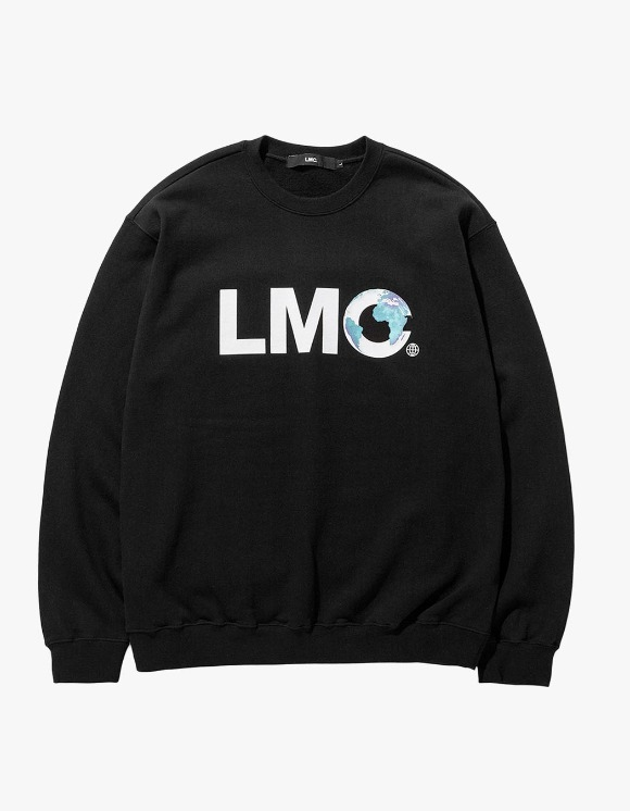 LMC LMC EARTH LOGO SWEATSHIRT black | HEIGHTS. | 하이츠 온라인 스토어