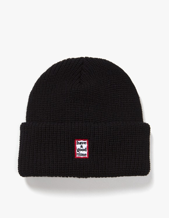 have a good time Mini Mini Frame Beanie - Black | HEIGHTS. | 하이츠 온라인 스토어