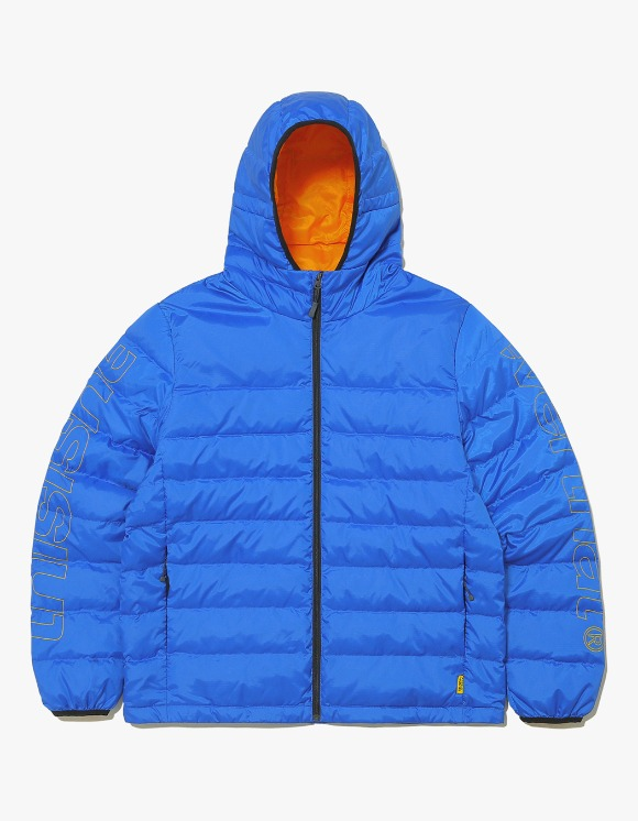 thisisneverthat HSP Hooded Down Jacket - Blue | HEIGHTS. | 하이츠 온라인 스토어