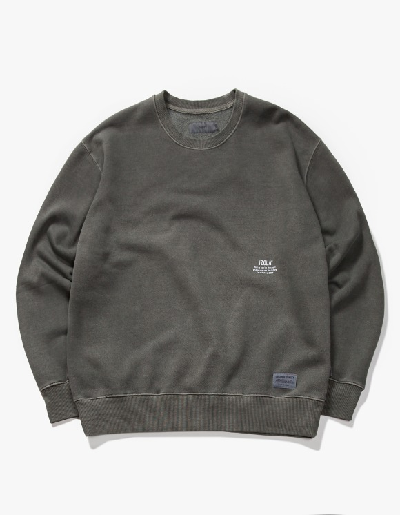 IZOLA NYC Over Dyed Crewneck - Charcoal | HEIGHTS. | 하이츠 온라인 스토어