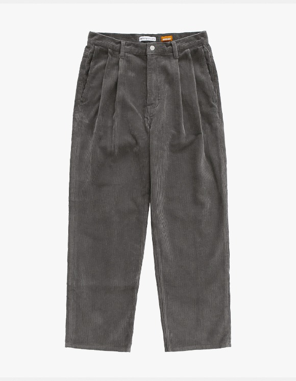 AYC Corduroy 2 Tuck Wide Pants Gray | HEIGHTS. | 하이츠 온라인 스토어