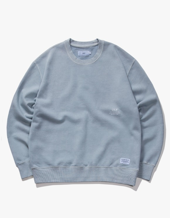 IZOLA NYC Over Dyed Crewneck - Powder Blue | HEIGHTS. | 하이츠 온라인 스토어