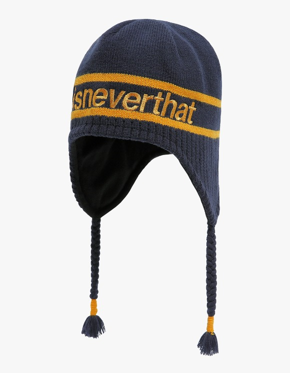 thisisneverthat SP Ear Flap Beanie - Navy | HEIGHTS. | 하이츠 온라인 스토어