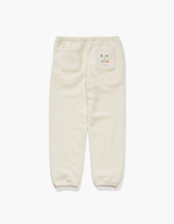 have a good time Colorful Logo Fleece Pants - Cream | HEIGHTS. | 하이츠 온라인 스토어