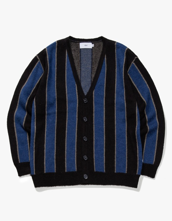 IZOLA NYC Striped Mohair Cardigan - Navy | HEIGHTS. | 하이츠 온라인 스토어