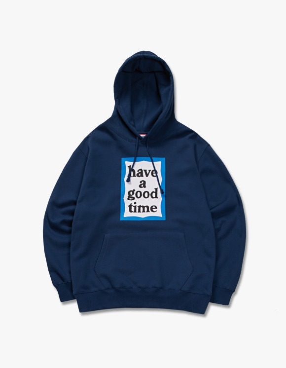 have a good time Blue Frame Pullover Hoodie - Midnight Blue | HEIGHTS. | 하이츠 온라인 스토어
