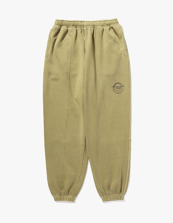 LMC LMC x FUZZ CIRCLE SWEAT PANTS olive | HEIGHTS. | 하이츠 온라인 스토어