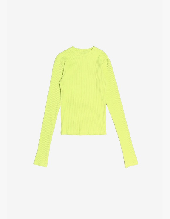 s/e/o Ribbed Slim Tee - Lime Green | HEIGHTS. | 하이츠 온라인 스토어