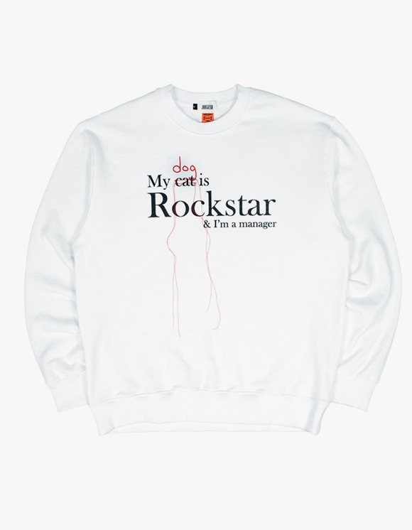 JOEGUSH My (Dog) is Rockstar & I'm a manager SWEATSHIRT Ver. - White | HEIGHTS. | 하이츠 온라인 스토어