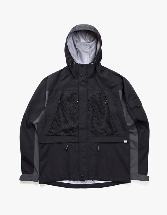 IZOLA NYC 3 Layer Mountain Parka - Black/Grey | HEIGHTS. | 하이츠 온라인 스토어