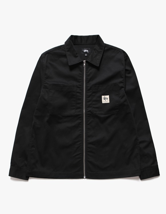 Stussy Zip-up Work LS Shirt - Black | HEIGHTS. | 하이츠 온라인 스토어