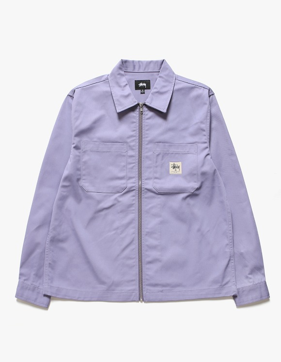 Stussy Zip-up Work LS Shirt - Lavender | HEIGHTS. | 하이츠 온라인 스토어