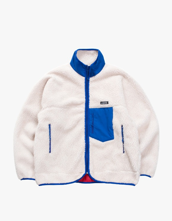 Lores Pile Fleece Zip Jacket - Beige/Blue | HEIGHTS. | 하이츠 온라인 스토어