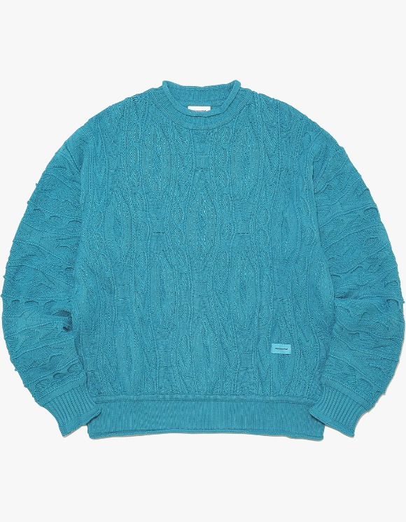 thisisneverthat Overdyed Knit Sweater - Blue Green | HEIGHTS. | 하이츠 온라인 스토어