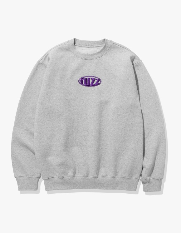 Fuzz FUZZ CIRCLE LOGO SWEATSHIRT melange gray | HEIGHTS. | 하이츠 온라인 스토어